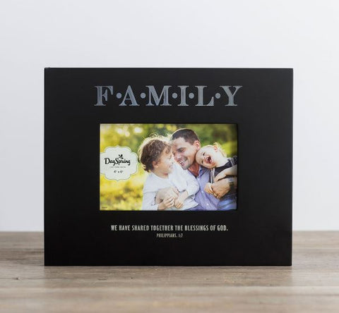 Family Picture Frame - Blessings of God