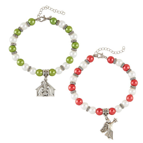 "6.5"" Christmas Bracelet - Set of 6"