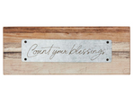 "3.25""H Count Your Blessings Rustic Tabletop Plaque"
