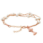 First Communion Rose Gold Bracelet