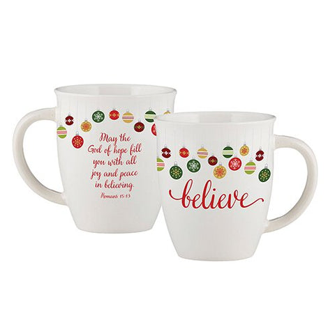 12 oz Ceramic Mug - Believe