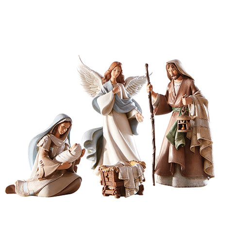"6-1/2"" H Figurine - Beth Nights Nat Holy Family - 4 Pieces Per Set"