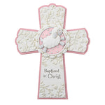 Baptized In Christ Cross Pink