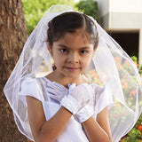 Rose HeadBand with Pearl Cross First Communion Veil