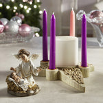"5"" D Candleholder - Two Piece Nativity Angel Advent"