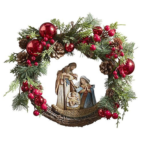 "15""D Nativity Wreath"