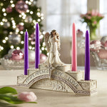"7.25""H Angel Advent Candle Holder"
