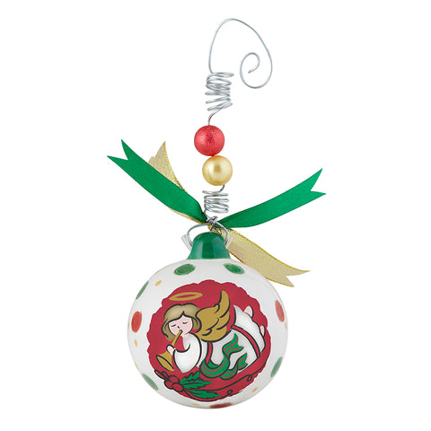 80mm Full-Color Ceramic Christmas Ornaments - Angels We Have Heard On High
