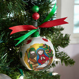 80mm Full-Color Ceramic Christmas Ornaments - Joy To The World