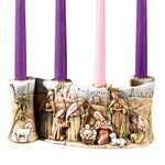 "10""L Candleholder - Nativity Scroll"