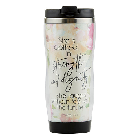 Strength & Dignity Travel Mug Mother's Day Present Mother's Day Gift Mother's Day special item Mother's Day Strength & Dignity Mug