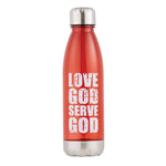 Love God Serve God Water Bottle