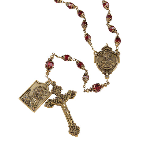 Sacred Heart Vintage Rosary - Collector's Edition
