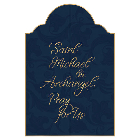 St Michael Triptych Card | 12 Pieces Per Package