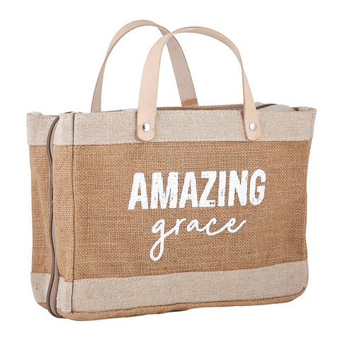 Cute Mini Market Tote Bible Cover - Amazing Grace