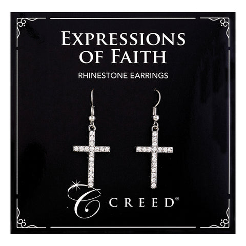 Expressions of Faith - Rhinestone Dangle Earring - Silver