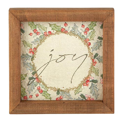 Framed Tabletop - Holiday Greetings - Joy