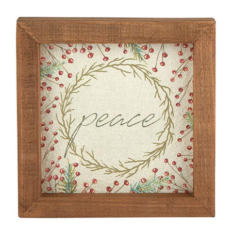 Framed Tabletop - Holiday Greetings - Peace