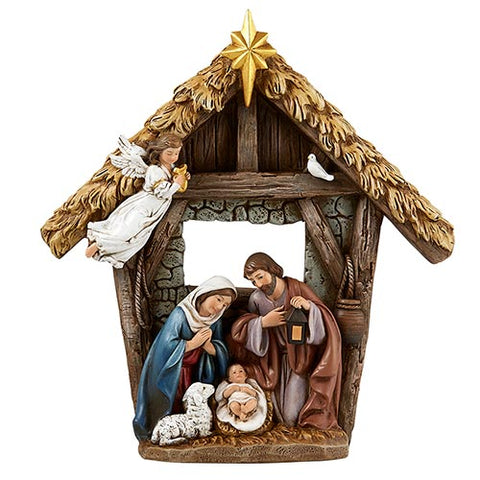 "9.25""H Figurine Children's Nativity w/ Angel"