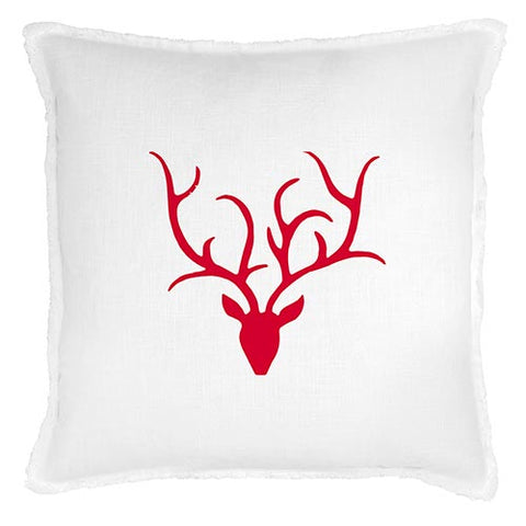 "26"" Sq Face To Face Euro Pillow - Antlers"