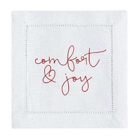 "5"" Sq Face To Face Cocktail Napkin - Comfort & Joy"