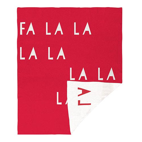 "60"" L Face To Face Throw - Fa La La La"