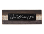 "3.25""H God Bless You Rustic Tabletop Plaque"