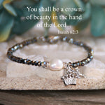 You shall be a Crown of Beauty Freshwater Pearl Beaded Bracelet