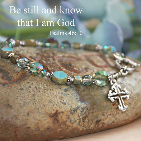 Be still and know that I am God...stunning top selling bracelet.