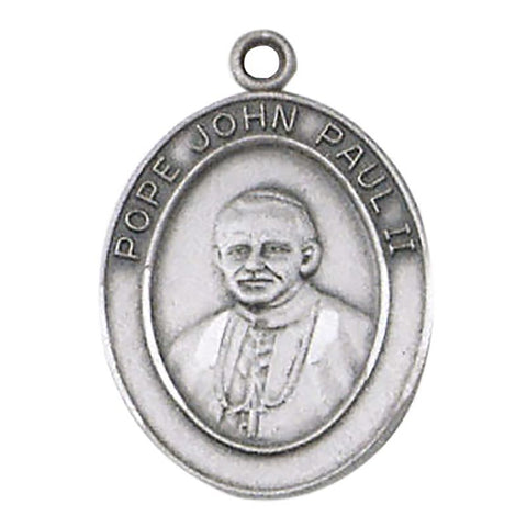 "Pope John Paul II Pewter Medal with 28"" L Cord"