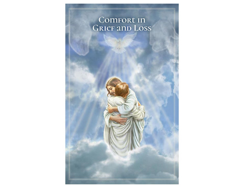 "5"" H Pocket Prayer Folder - Comfort in Grief and Loss - Jesus"