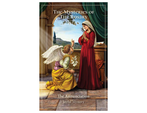"5"" H Pocket Prayer Folder - The Mysteries of the Holy  Rosary"