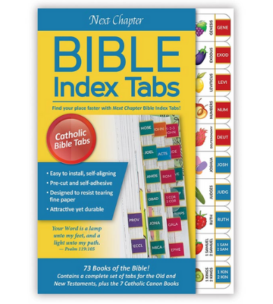 "9"" H Kids Bible Tabs - Catholic Version"