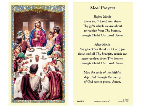 Laminated Holy Card - Last Supper - 25 Pcs. Per Package