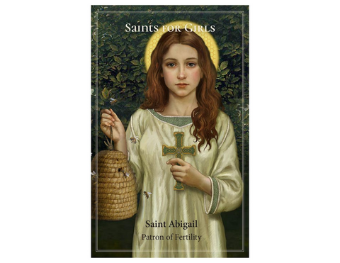"5"" H Pocket Prayer Folder - Saints for Girls  St. Abigail"