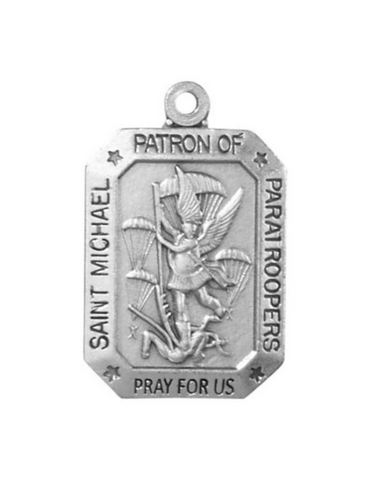 "St. Michael Heritage Medal With 24"" Chain Paratrooper Armed Forces Medal St. Michael Paratrooper Armed Forces Medal St Michael Paratrooper Armed Forces Medal"