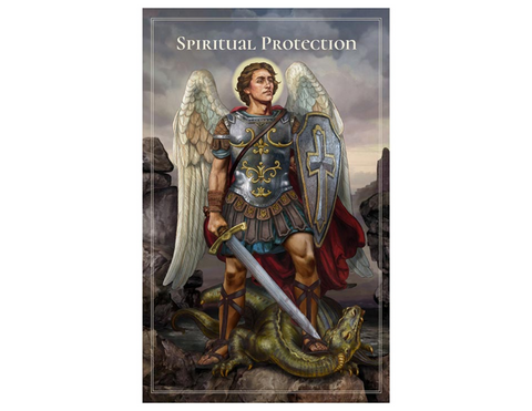 "5"" H Pocket Prayer Folder - Spiritual Protection St.  Michael the Archangel"