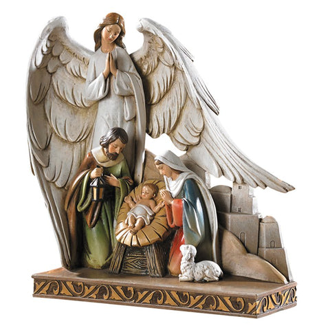 "8""H Figurine Nativity With Angel"
