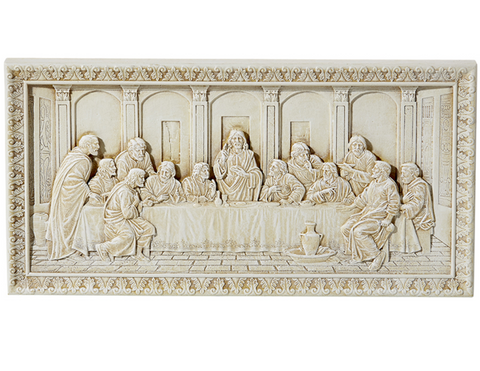 "10.5"" The Last Supper Ivory Plaque"
