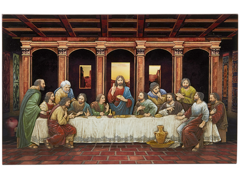 "8.5"" H The Last Supper Plaque"