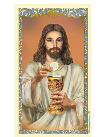 Christ In The Eucharist - Holy Card