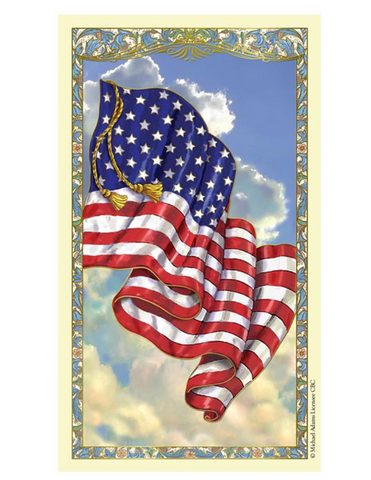 American Flag - Laminated Holy Card