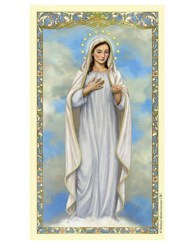 Our Lady of Medjugorje - Laminated Holy Card