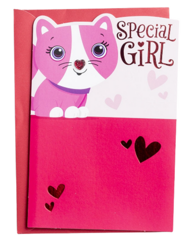 Valentine's Day - Special Girl - 1 Premium Card