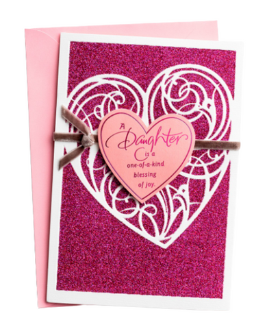 Valentine's Day - Daughter - One Of A Kind - 1 Premium Card