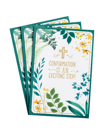 Confirmation Greeting Cards - An Exciting Step - 3 Premium Cards