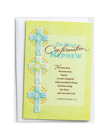 Confirmation Greeting Card - Nephew - 1 Premium Card