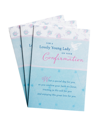 Confirmation Greeting Cards - Lovely Young Lady - 3 Premium Cards