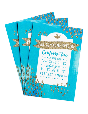 Confirmation Greeting Cards - For Someone Special - 3 Premium Cards