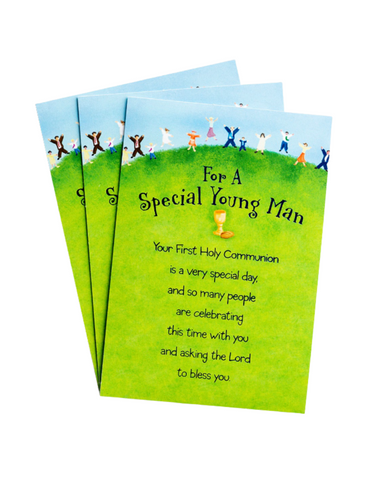 Communion Greeting Cards - Special Young Man - 3 Premium Cards
